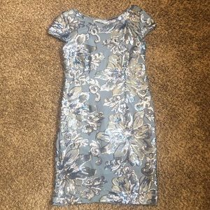 Blu Sage Blue Sequin Dress Size 12